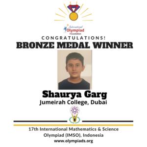 Bronze Medal 2 Maths