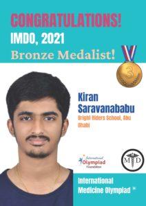 Kiran Saravanababu Bronze-IMDO