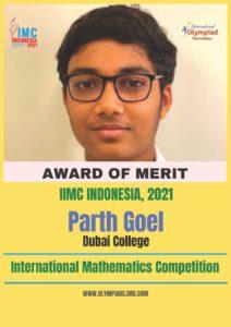 Parth Award of Merit-IIMC